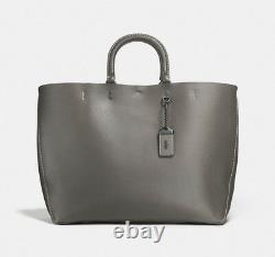 NWT #59136 Coach 1941 Rogue Tote Heather Grey/ Black Copper $495+TAX