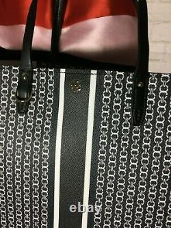 NWT Authentic Tory Burch GEMINI LINK TOTE black Holidays Christmas