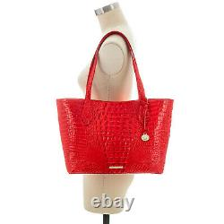 NWT Brahmin Athena Leather Tote/Shoulder Bag With Pouch in Candy Apple Melbourne