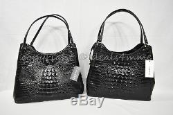 NWT Brahmin Dayton Leather Tote / Shoulder Bag in Black Melbourne