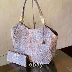NWT Brahmin Marianna CHIFFON MARE EMBOSSED Leather Shoulder Bag/wallet options