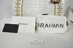 NWT Brahmin Marianna Leather Tote / Shoulder Bag in Pearl Summer Dalton