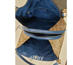 NWT COACH HALLIE Shoulder Bag F80298 Signature satchel Hobo Tote satchel