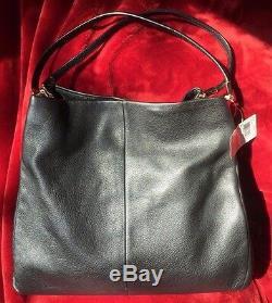 NWT COACH Madison Leather Phoebe Shoulder Bag Gold Black F24621
