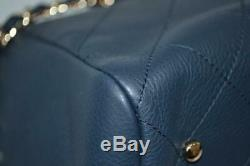 NWT Chanel 19P Navy Matelasse Leather Large Shopping Tote Bag $4,400