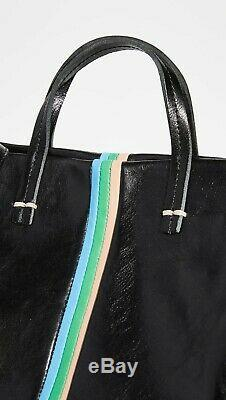 NWT Clare V Vivier Simple Tote Black Rustic/Pale Pink/Parrot $555