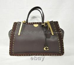 NWT Coach 31020 Mixed Leather Dreamer 36 Satchel/Shoulder Bag in Oxblood