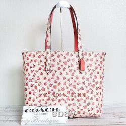 NWT Coach 55181 Highline Tote With Floral Print in Chalk Multi