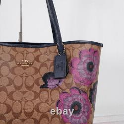 NWT Coach 5697 City Tote in Signature Canvas With Kaffe Fassett Print