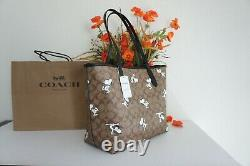 NWT Coach 6160 Limited Edition Peanuts City Tote In Signature With Snoopy Print