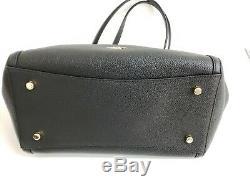 NWT Coach 87239 Turnlock Edie Leather Carryall Satchel/Shoulder Bag in Black