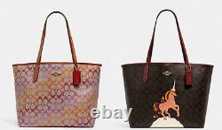 NWT Coach City Tote In Signature satchel shoulder bag purse laptop bag