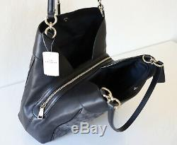 NWT Coach F27579 Lexy Shoulder Bag in Outline Signature Smoke/Black