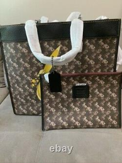 NWT Coach Field Tote 40 With Horse And Carriage Print And Rocket 79025