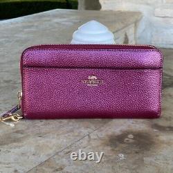 NWT Coach LG Sage Signature satchel crossbody Handbag/Wallet metallic berry