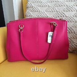NWT Coach Large Crossgrain Christie Leather Carryall Satchel handbags $450