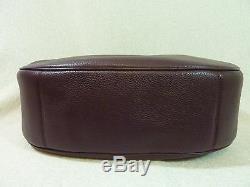 NWT Coach Oxblood Pebbled Leather Large Harley Hobo Bag $425 38259
