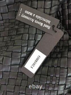 NWT-FALOR -ITALYBLACK -XXL SIZE-Hand Woven Soft Leather Tote F2018 Hard to Find