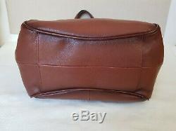 NWT FRYE Leather Madison Shoulder Handbag Purse DB0490 Cognac MSRP $428