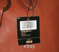 NWT Frye Leather RING Tote Shoulder Bag Purse Women COGNAC Brown MSRP$428