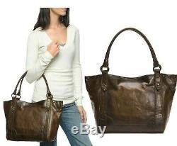 NWT Frye Melissa Antiqued Pull-Up Leather Shoulder Bag Dark Brown DB146