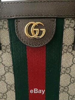 NWT GUCCI Ophidia LARGE Monogram Supreme Red & Green TOTE BAG