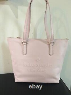NWT Kate Spade Larchmont Ave Logo Penny Pink Leather Large Tote WKRU5619 $399