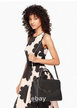 NWT Kate Spade Leewood Place Makayla Satchel, Crossbody Leather Black Retail $398