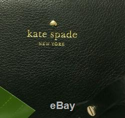 NWT Kate Spade Mya Black / Leopard Leather Tote + Pouch Arch Place WKRU5504 $299