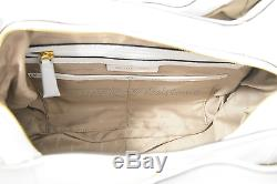 NWT Michael Kors Bedford Belted Large Leather Shoulder Tote in Optic White