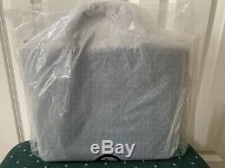 NWT Michael Kors Brooklyn Large Leather Tote Satchel Bag Denim $498