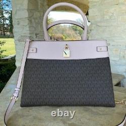 NWT Michael Kors Gramercy LG Leather Satchel Handbag/ wallet options powder blus
