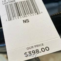 NWT Michael Kors Large Tina Leather handbag Satchel/Wallet black Gold 35H7GT4M3L