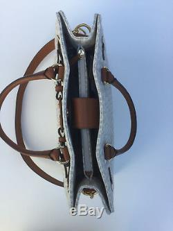 NWT Michael Kors MK Large Vanilla Hamilton PVC EW Tote Bag MK Signature