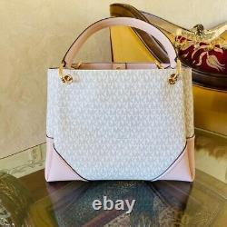 NWT Michael Kors Signature Nicole Large Shoulder handbag/Wallet vanilla/ballet