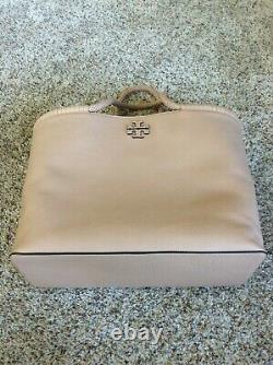 NWT TORY BURCH TAYLOR Large TOTE Handbag In DEVON SAND Pebbled Leather $525