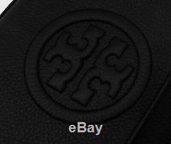 NWT Tory Burch Bombe Chain Crossbody Bag, Black # 44592