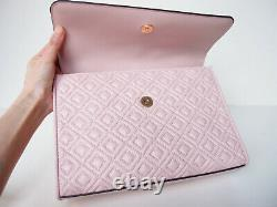 NWT Tory Burch Fleming Large Quilted Leather Shoulder Bag Shell PINK AUTHENTIC