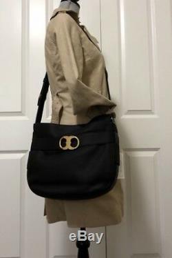 NWT Tory Burch Gemini Link Belted Crossbody Shoulder Bag, Black # 32694