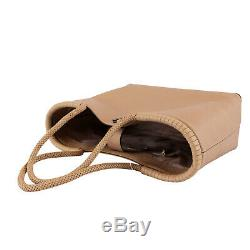 NWT Tory Burch Large Taylor Braided-Handle Tote Shoulder Bag Devon Sand $525+