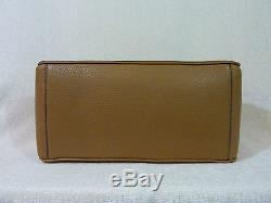 NWT Tory Burch Tigers Eye Brown/Tan Pebbled Leather Robinson Multi Tote $575