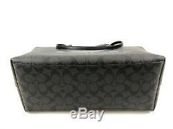 New Authentic Coach F88019 Town Tote Purse Shoulder Bag Signature Canvas Black