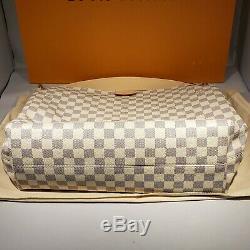 New Authentic Louis Vuitton Graceful MM Damier Azur Hobo Tote Bag Purse N42232