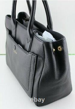New Authentic Marc Jacobs Leather Black Handbag Tote Satchel Women's M0013044