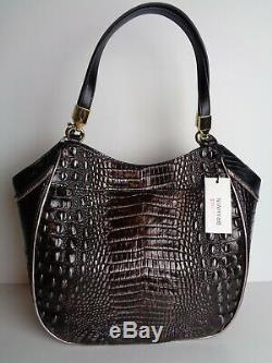 New Brahmin Ironwood Alzette Marianna Leather Tote NWT $335