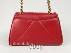 New DOLCE & GABBANA Devotion Large Red Leather Heart Bag Handbag Purse