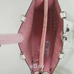 New Kate Spade Handbag Hayes Perf Large Tote White pink Bag WKRU5872 WAS 459$