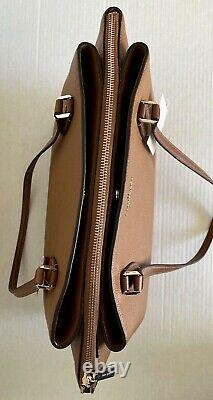 New Kate Spade Monet Large Triple compartment Tote Leather Warm Gingerbread