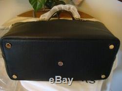 New Michael Kors BLACK Brooklyn Large Leather Tote bag NWT $498