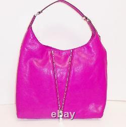New Michael Kors Newman Fuschia, Hot Pink Leather Large Hobo, Shoulder, Hand Bag